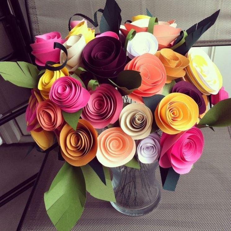 Bouquet di rose di carta