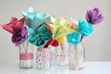 Fiori di carta in vaso