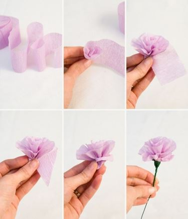 Creare rose di carta crespa