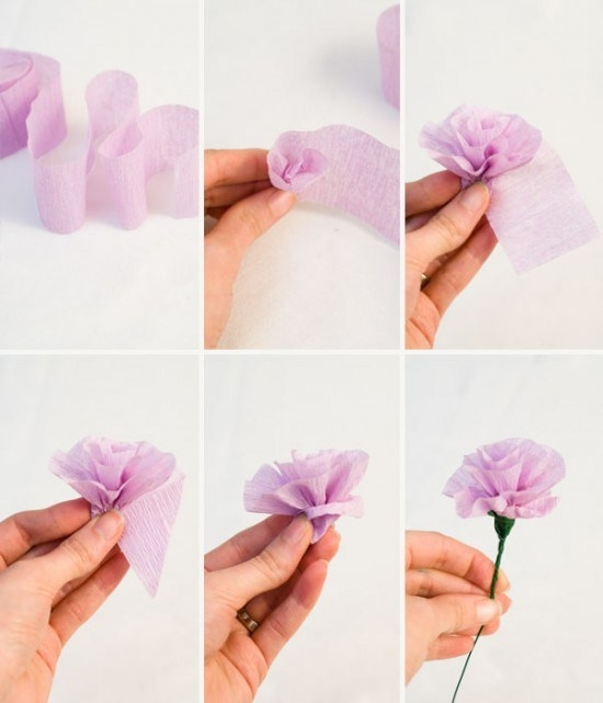 Fiori di carta semplici fiori di carta fiori di carta for Fiori semplici