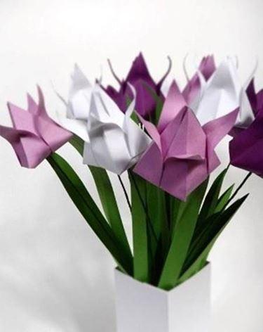 Un mazzo di tulipani origami