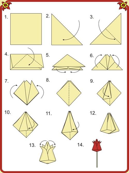 Цветы из оригами своими руками для начинающих видео