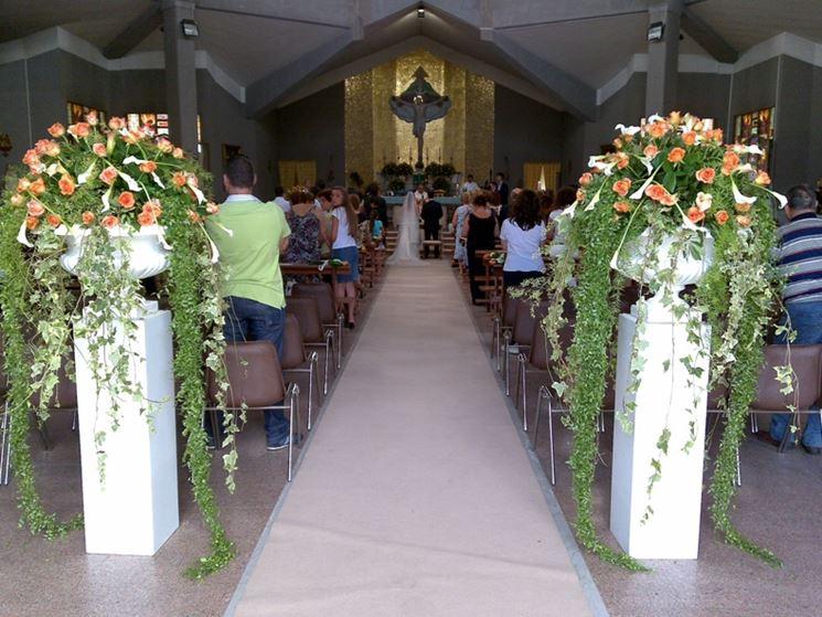 Conosciuto Addobbi floreali matrimonio in chiesa - Fiorista - Fiori per la chiesa GF33