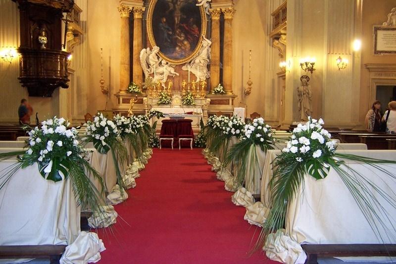 Addobbi matrimonio chiesa fiorista addobbi matrimonio for Decorazioni nuziali