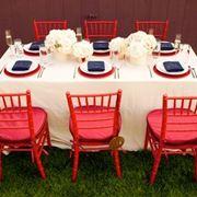 decorazioni rosso, bianco e blu