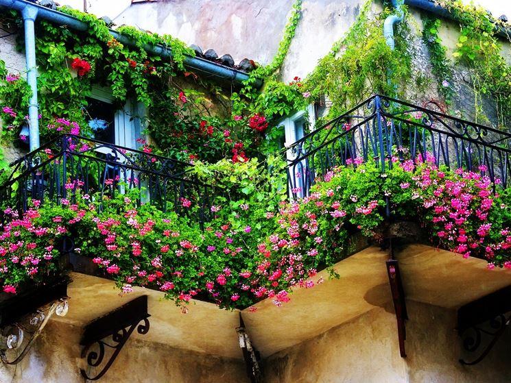 Balconi molto fioriti