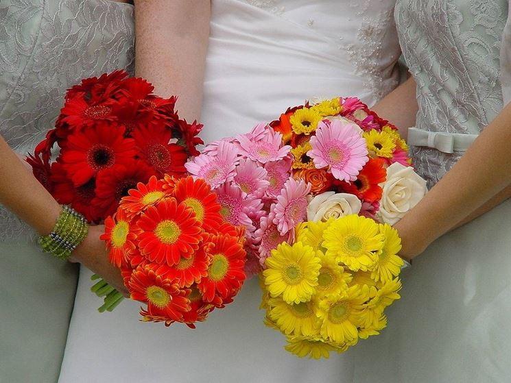 Bouquet sposa con gerbere
