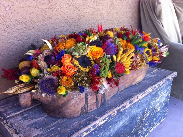 composizioni fiori secchi regalare fiori come