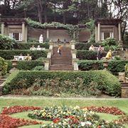 Esempio di giardino all'italiana su diversi livelli
