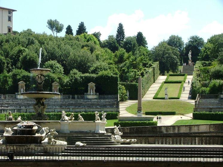 Uno scorcio del giardino di Boboli a Firenze