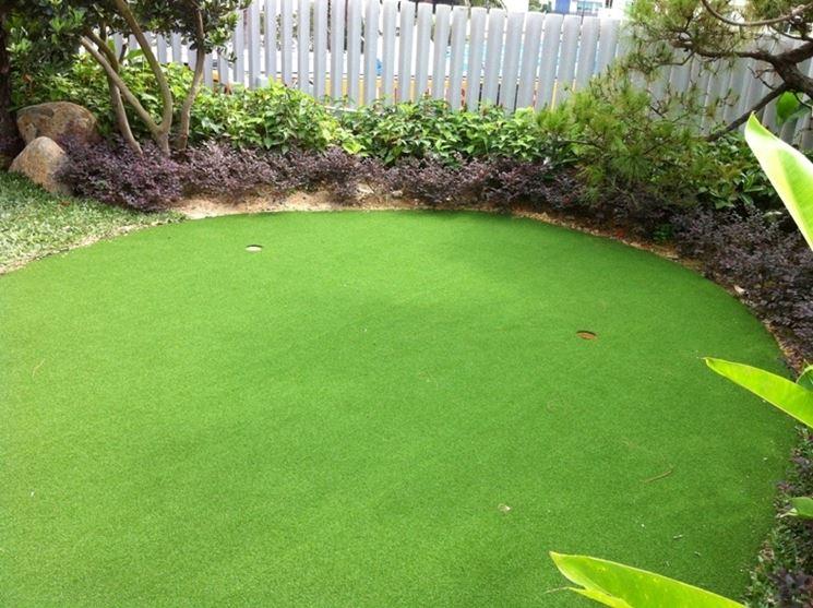 Pavimentazione in erba sintetica