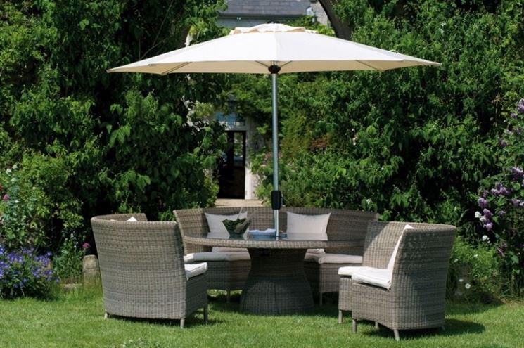 set da giardino con divano