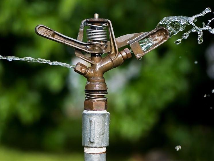 Irrigatore a impatto in funzione.