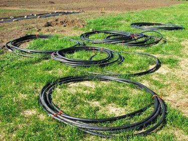 Esempio di tubi irrigatori