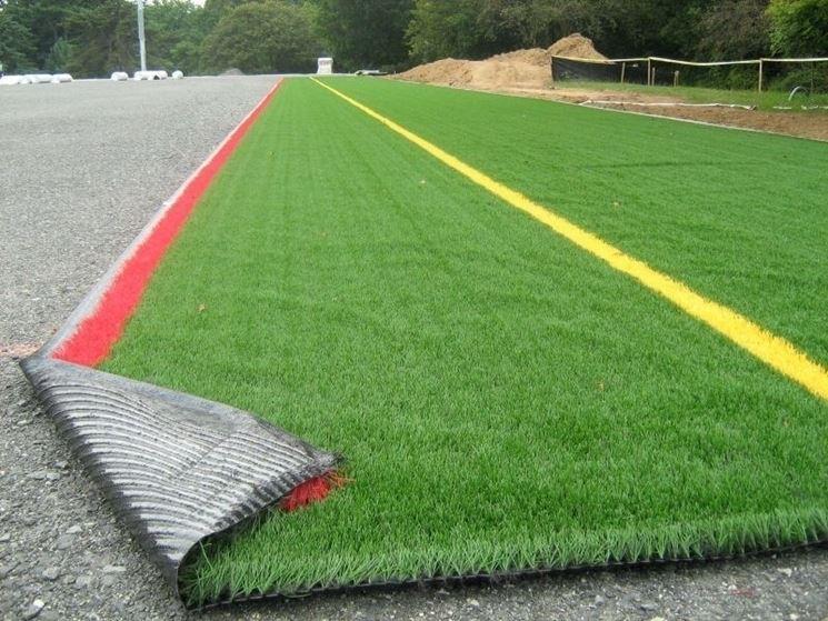Un manto di erba sintetica