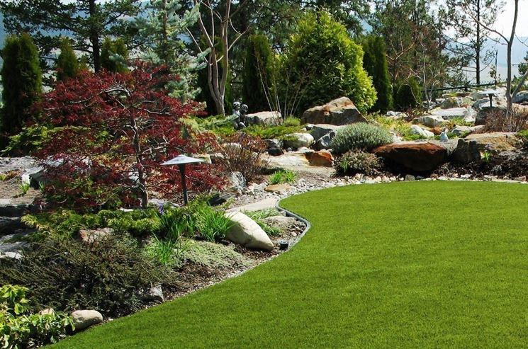Erba sintetica per giardini prato erba finta - Idee giardino senza erba ...