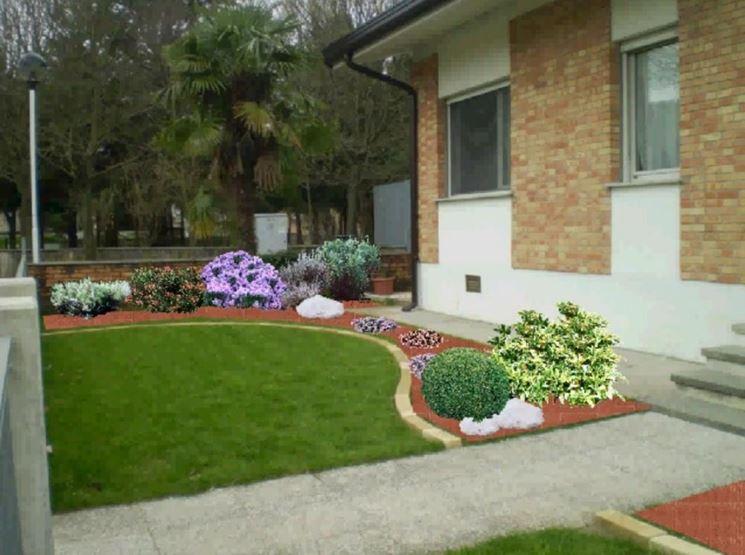 aiuole giardino progettazione giardini aiuole per il