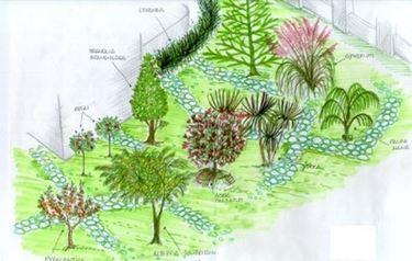 schema per progettazione giardino