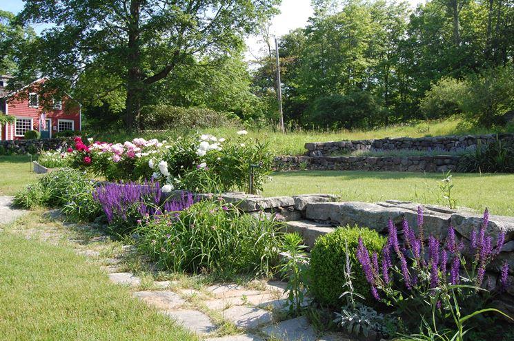 Esempio di un giardino a terrazze
