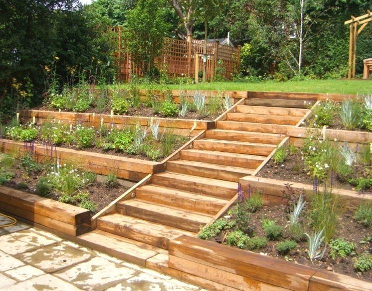 Stupendo giardino a terrazze