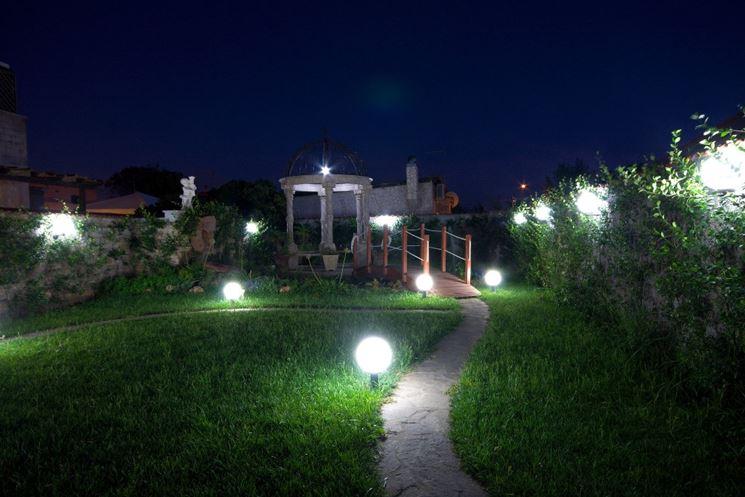 Il giardino illuminato