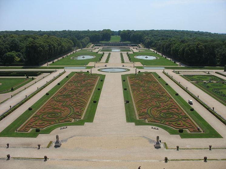 Tipico esempio di giardino alla francese