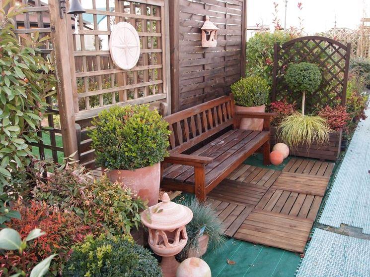 Giardino zen sul balcone design casa creativa e mobili - Design giardino casa ...