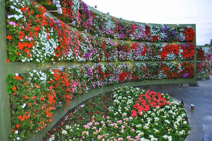Uno splendido giardino verticale