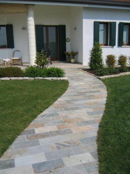 Posa pavimento per esterno progettazione giardini for Pavimento da giardino
