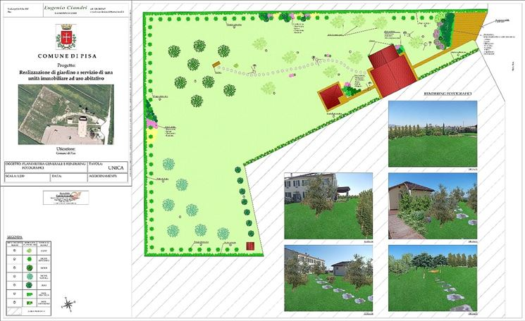 Realizzare giardino progettazione giardini realizzare for Progetto giardino mediterraneo