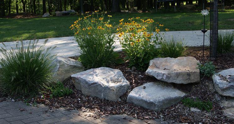 Sassi da giardino progettazione giardini usare sassi for Big white rocks for garden
