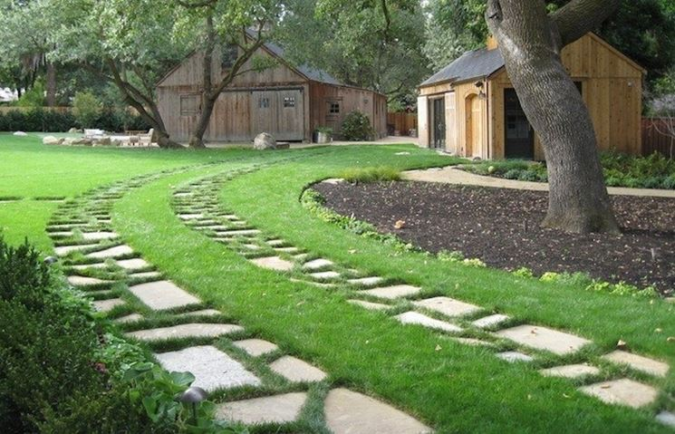 Vialetti giardino progettazione giardini come - Vialetti giardino in porfido ...