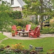 Un giardino ricco di alberature