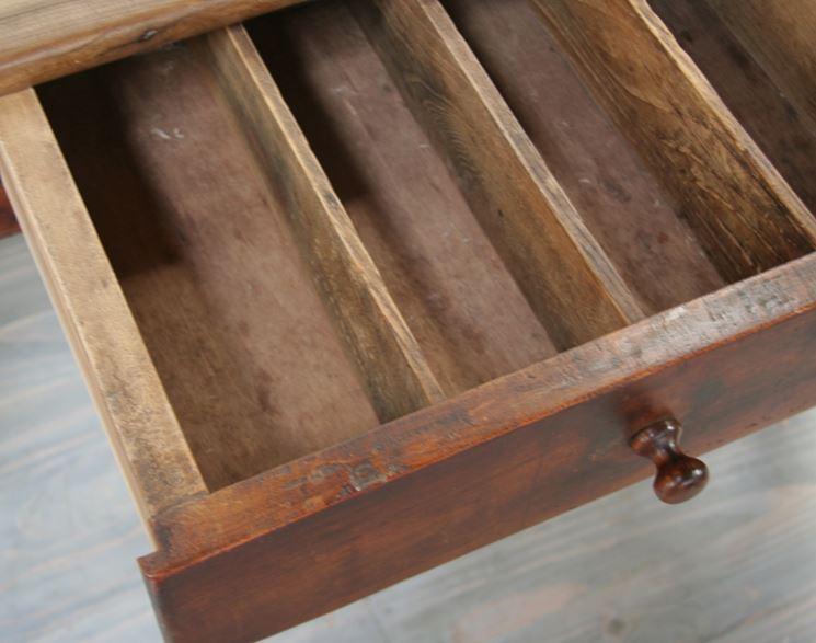 cassetto in legno ciliegio