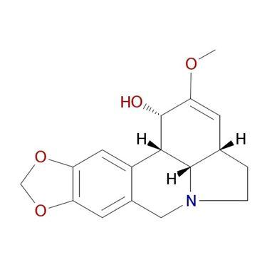 Struttura chimica della bellamarina, principale alcaloide tossico dell'Amaryllis belladonna