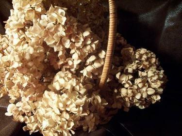 Cestino di fiori essiccati per profumare gli ambienti di casa.