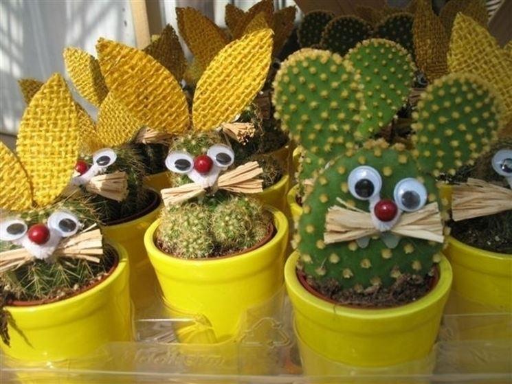 Bomboniere decorate con piante grasse