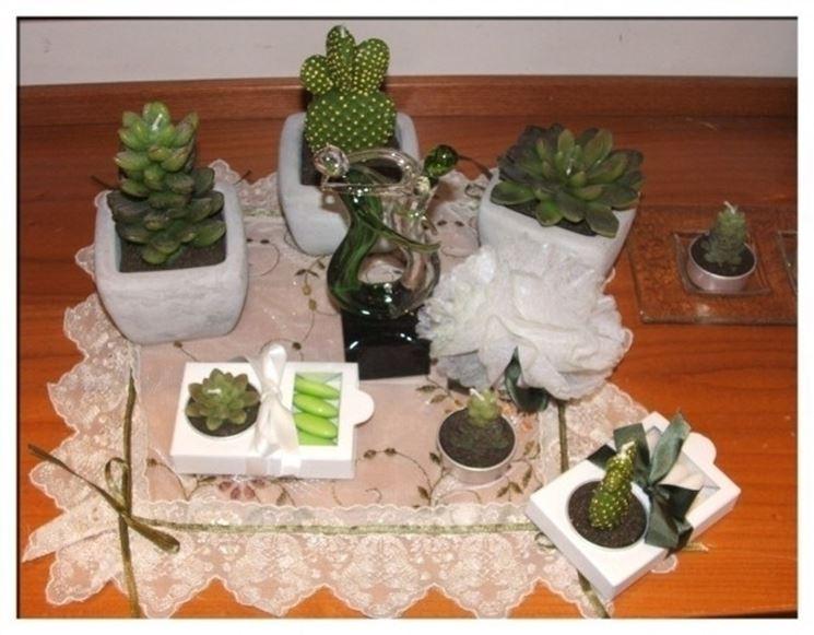 Eleganti bomboniere con piante grasse