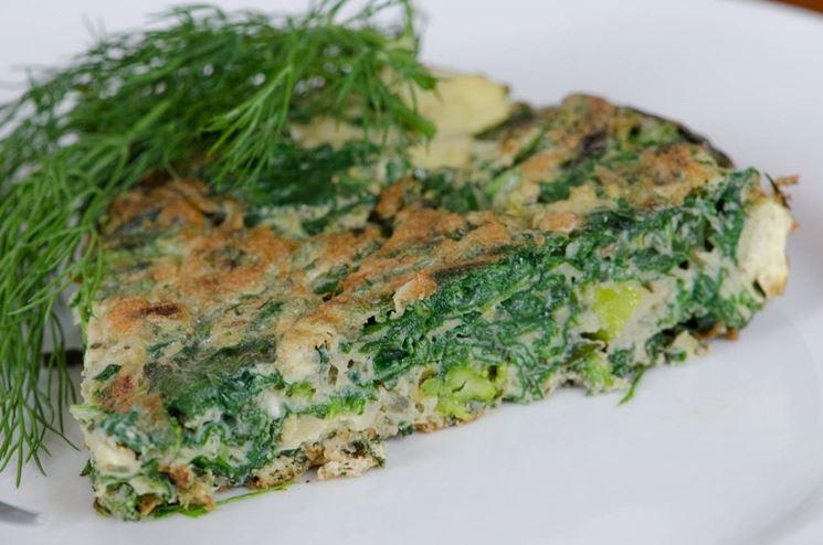 Frittata di vitalbini, pezzo forte della cucina vegana