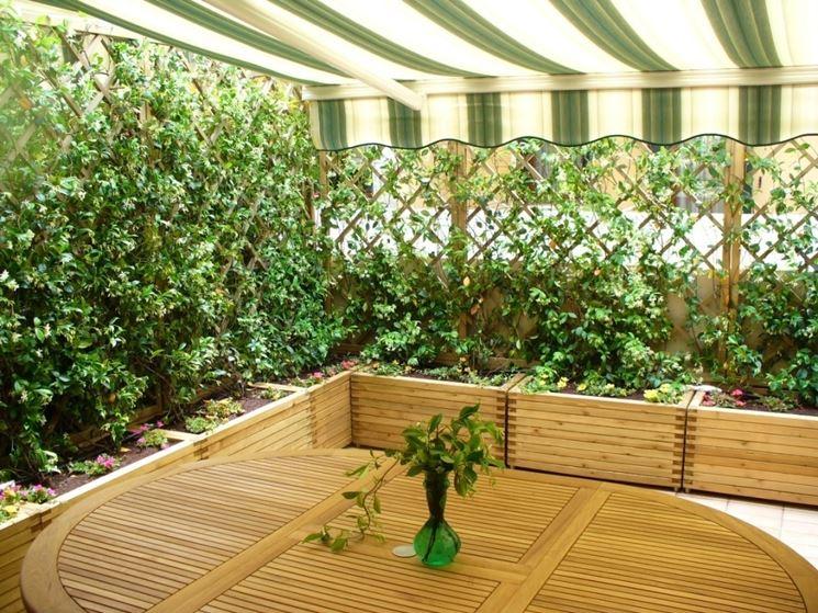 siepe terrazzo legno