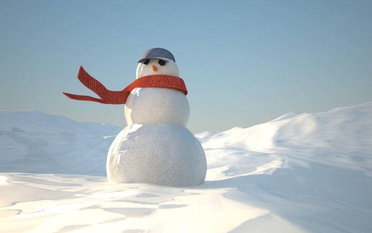 foto di un pupazzo di neve
