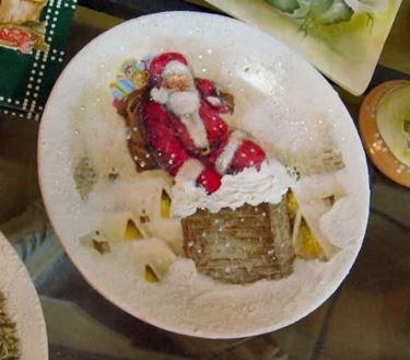 Piatto di Natale realizzato con decoupage