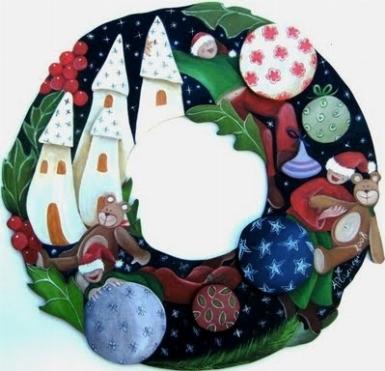 Ghirlande di natale decorazioni di natale - Corone natalizie da appendere alla porta ...