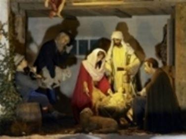 Capanna con sacra famiglia