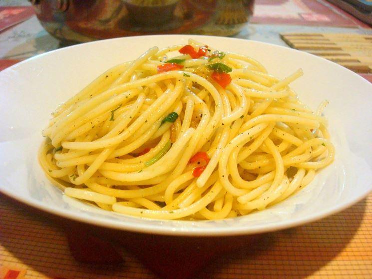 Piatto spaghetti aglio, olio e peperoncino