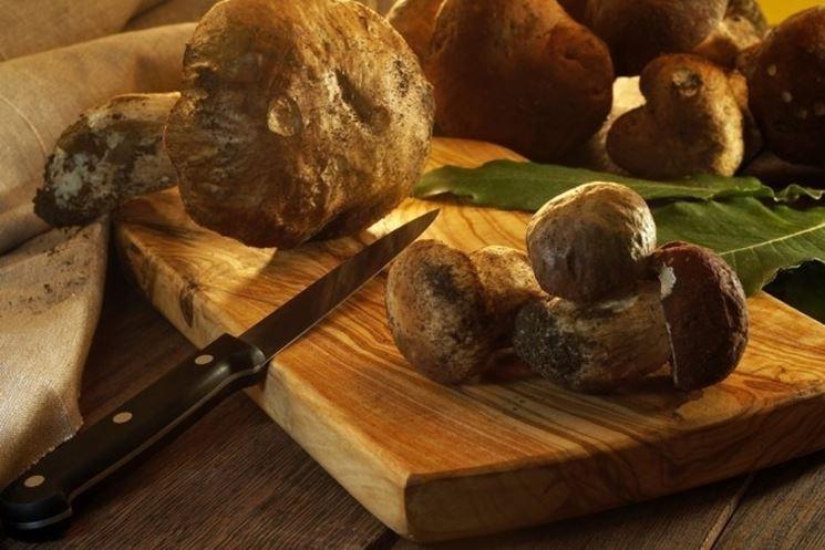 funghi porcini pronti da cucinare