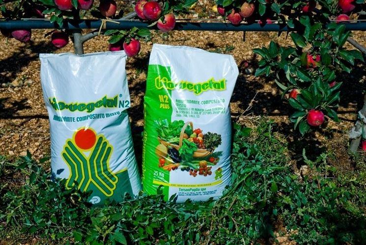 Dettaglio fertilizzante per orto