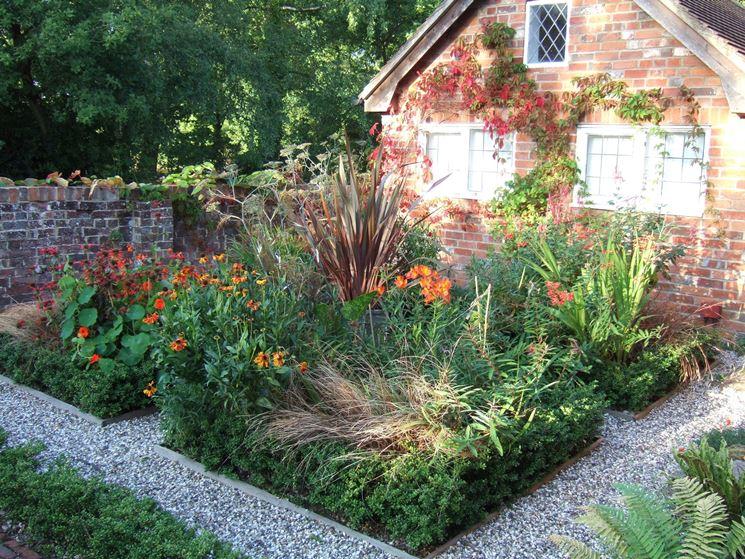 Un orto e un giardino