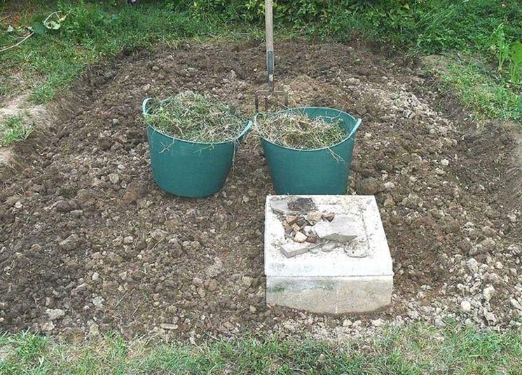 pulizia del terreno da erbacce e sassi