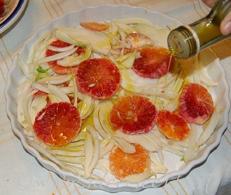 Insalate con verdure invernali